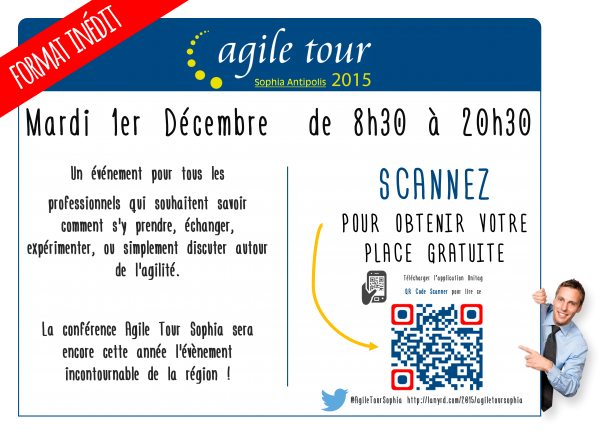 Flyer Agile Tour Sophia Antipolis