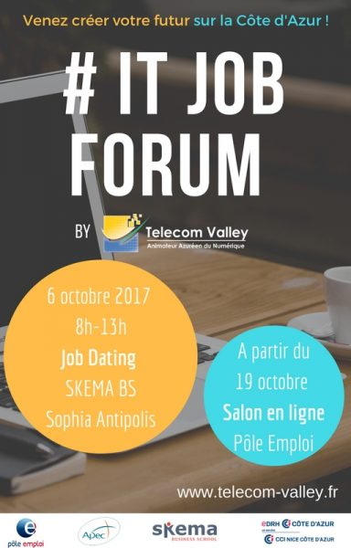 IT JOB FORUM BY TELECOM VALLEY- 6 Octobre 2017