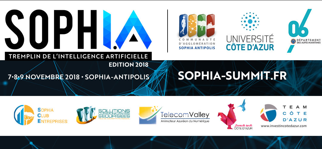 3 Master Class sur l'Intelligence Artificielle le 7 novembre, à SophI.A Summit