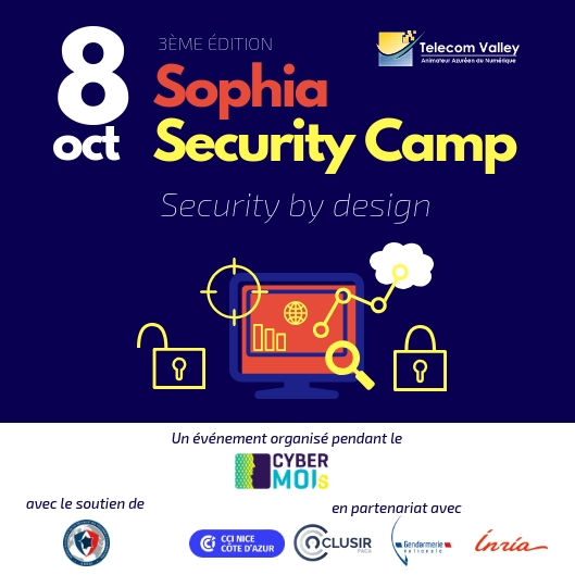 Security by design et les menaces mobiles à Sophia Security Camp [Communiqué de presse]