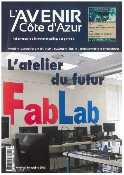 Reportage au coeur des FabLabs avec SoFAB (l'Avenir Côte d'Azur)