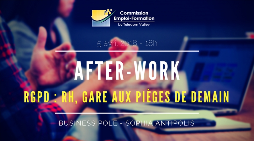 5 Avril 2018 – After-Work Emploi – Formation : En mai RGPD