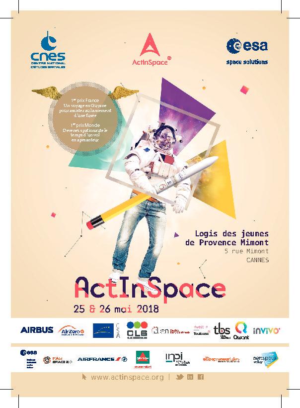 #ACTINSPACE TROISIEME EDITION – 25 & 26 Mai 2018