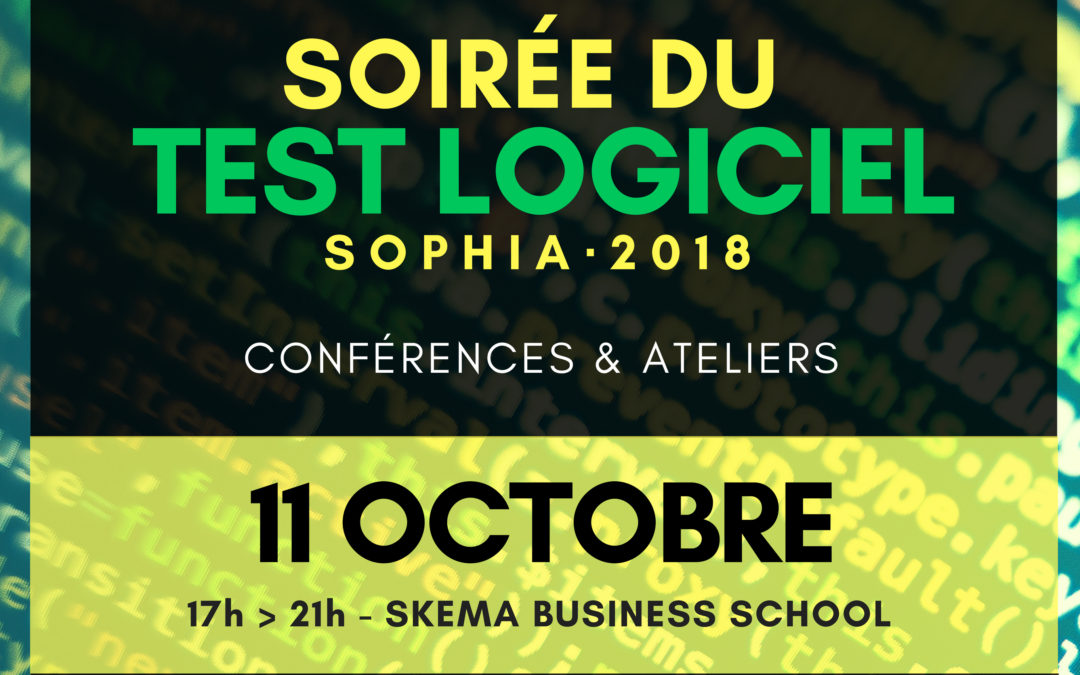 Le futur du Test Logiciel, au coeur de la rencontre annuelle, le 11 octobre 2018