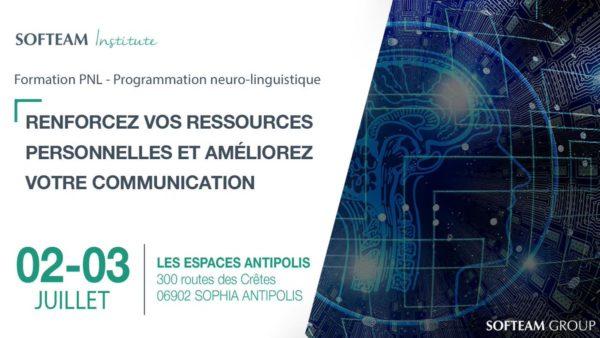 [ACTU ADHÉRENT]: Softeam: Formation sur les outils PNL (Programmation neuro-linguistique) les 2 & 3 juillet