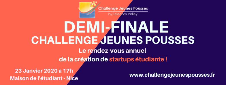 [Communiqué] Challenge Jeunes Pousses : demi-finale le 23 Janvier 2020 !