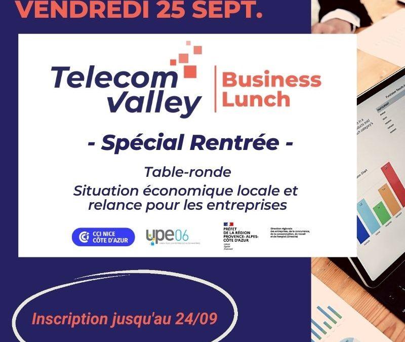 Vendredi 25 septembre : Business Lunch spécial « Situation économique locale et relance pour les entreprises », retransmis en direct sur Youtube