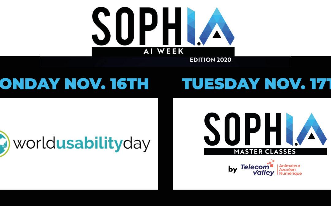 [Communiqué] Lancement AI WEEK, une ouverture de qualité avec le World Usability Day et les SophI.A Master Classes