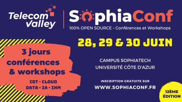 SophiaConf 2021 :  Workshops, conférences, initiations et animations fun et responsables !