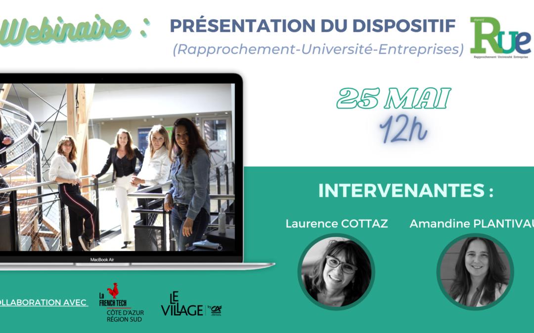 [ÉCOSYSTÈME] Village By CA : Présentation du dispositif RUE (Rapprochement-Université-Entreprises) 25 mai 2021