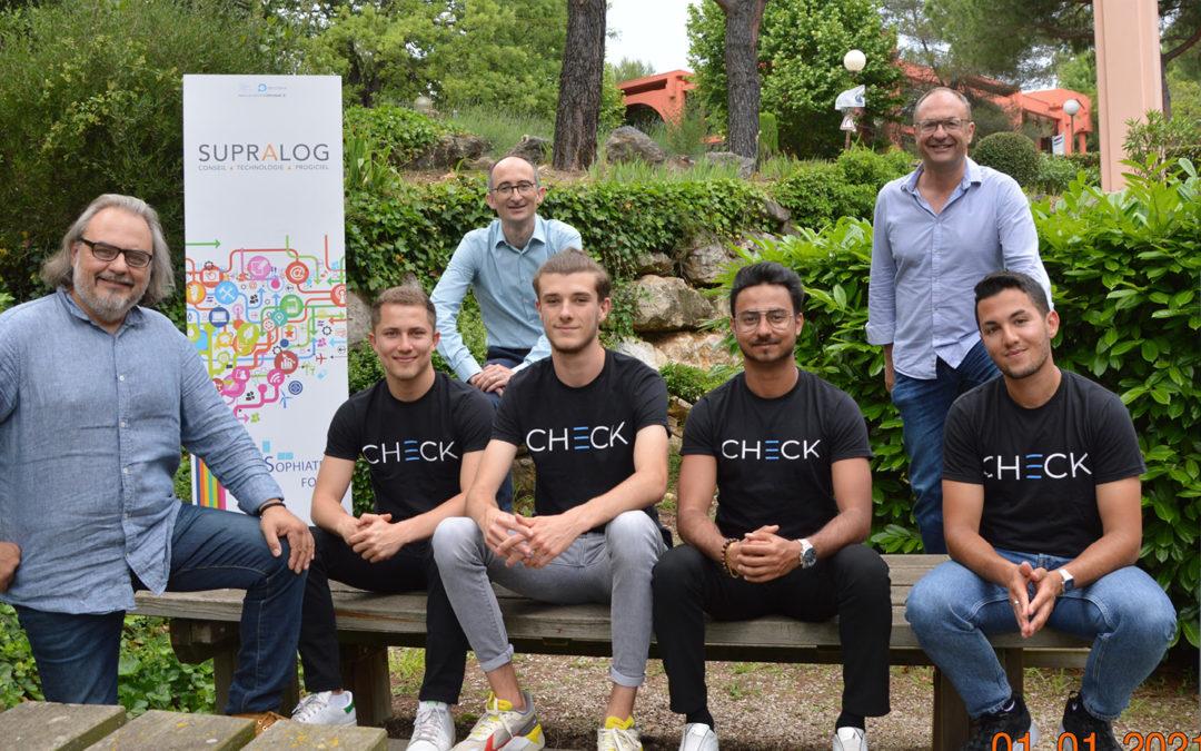 Le lauréat du Challenge Jeunes Pousses 2021 CHECK intègre Supralog Labs …