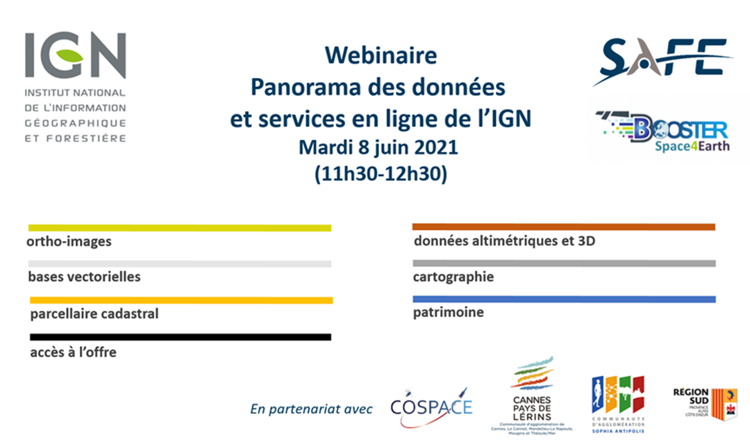 [Ecosystème] 8 JUIN 2021 – Booster Space4earth: Webinaire IGN – 11h30