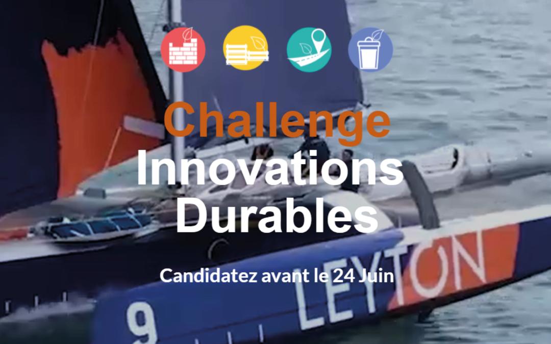 [actu écosystème] LEYTON : Sommet des Organisations Durables – Challenge Innovation en partenariat avec Bpifrance – ADEME – FRENCH TECH