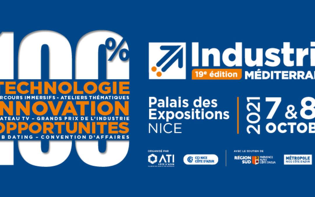 Telecom Valley, SOFAB et 5 de ses adhérents au Salon INdustria Méditerranée, les 7 et 8 octobre 2021